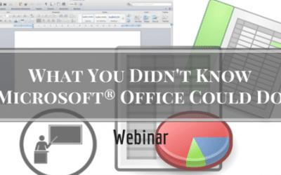 Microsoft Office Webinar