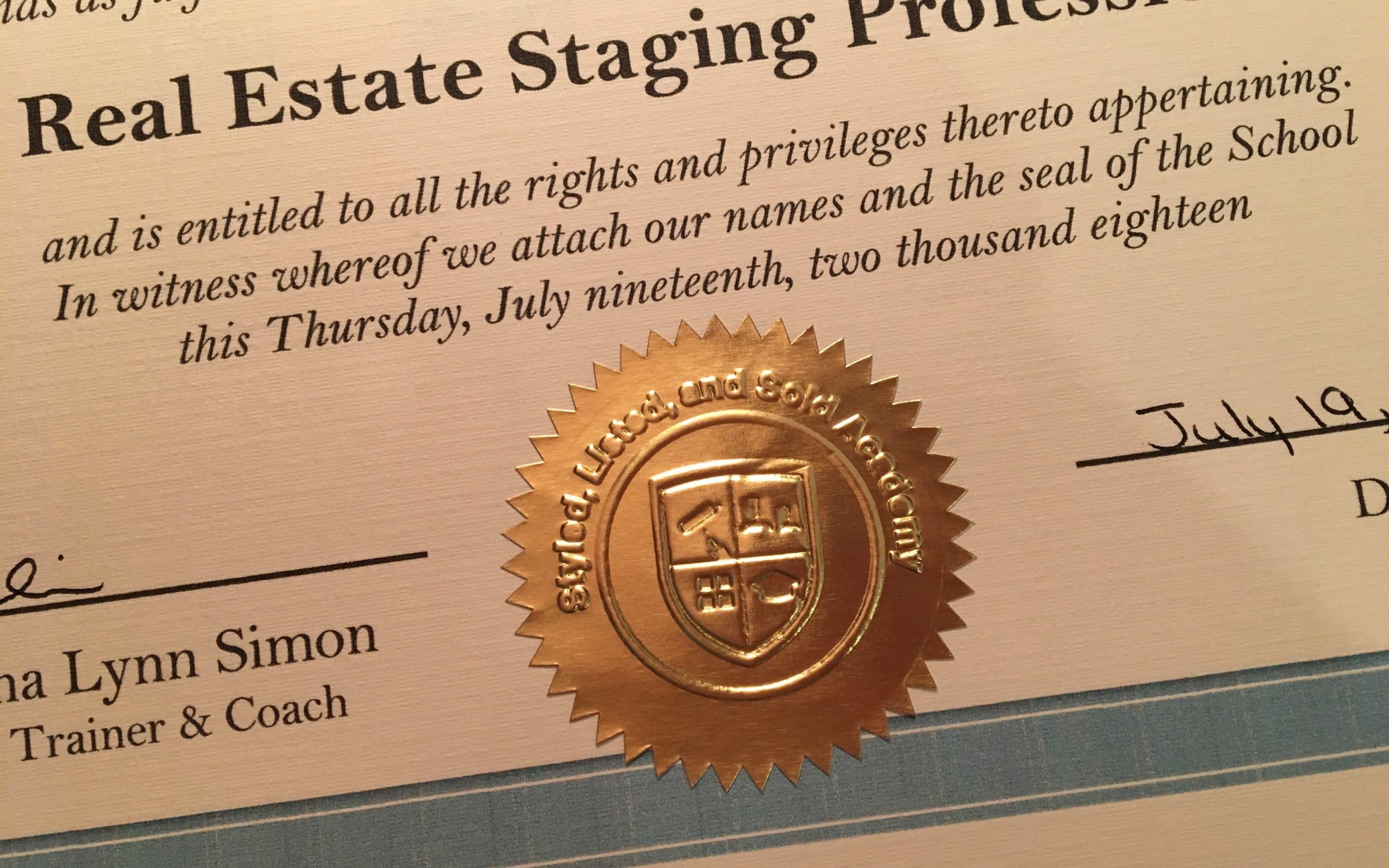 Home Staging Certification – What is it, and Do I Need it?