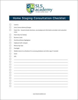 Home Staging Consult Checklist
